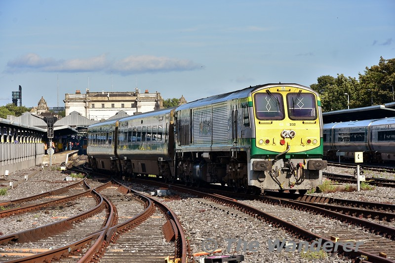 232 departs Heuston with the 1700 to Cork.  Thurs 05.09.19