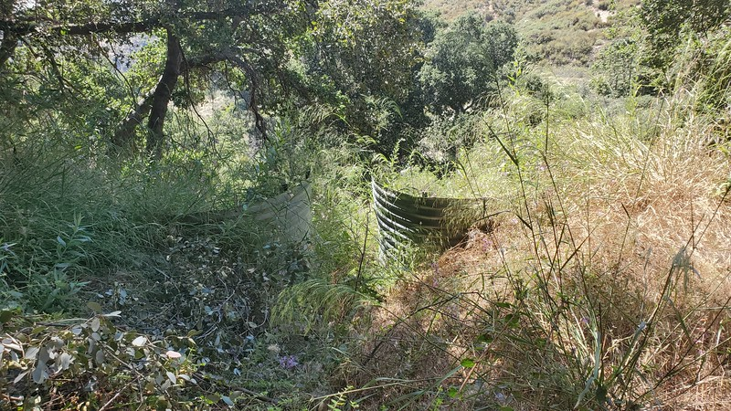 Failed culvert, Haines Canyon Motorway