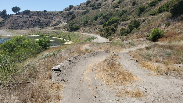 USAC, berm with gap jump to backside of berm