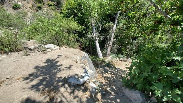 USAC, Blue Bug Trail,  Rock drop with go-around