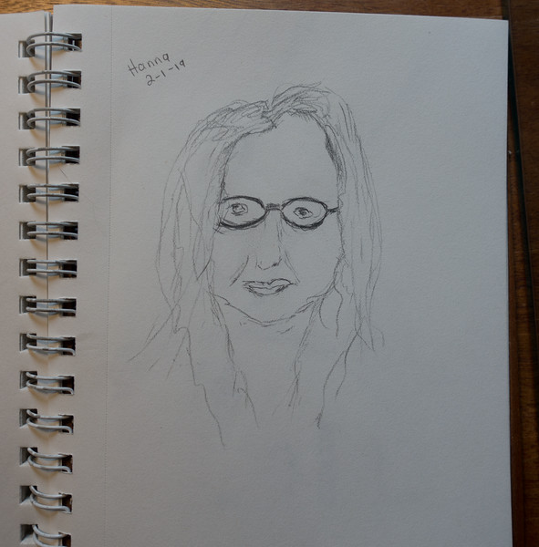10 Minute drawing - Hanna