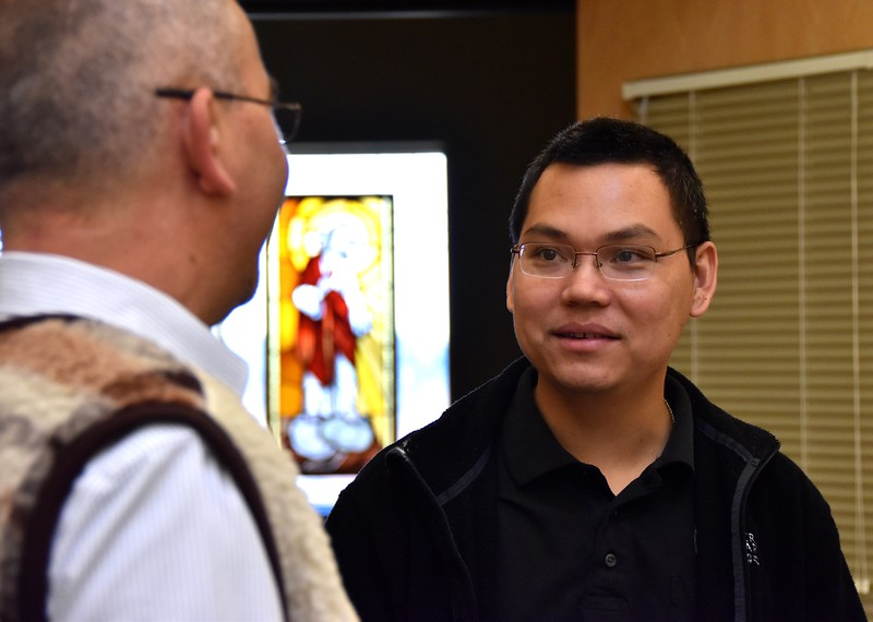 Fr. Andrzej and Hung (candidate)