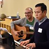 Br. Diego and Fr. Joseph Quang served as music ministers for the conference