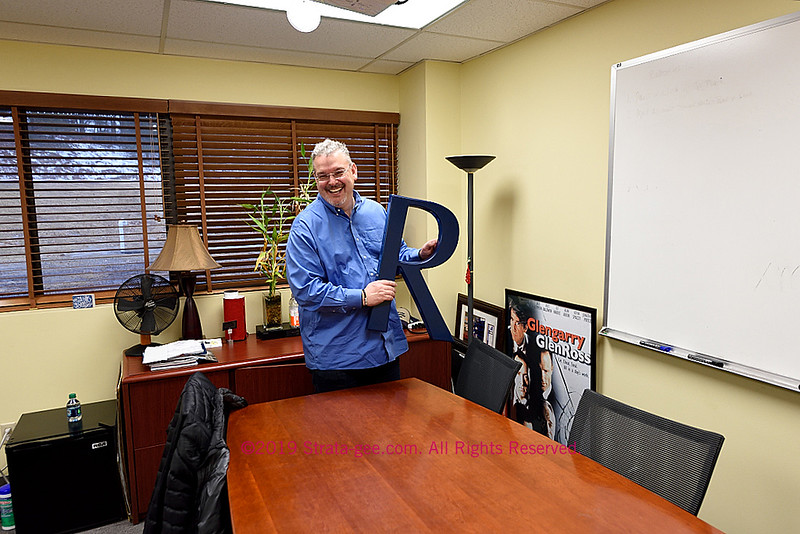 Photo of Russound CEO Charlie Porritt in his office