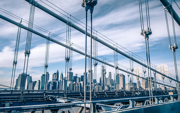 Manhattan bridge, New York City. USA
