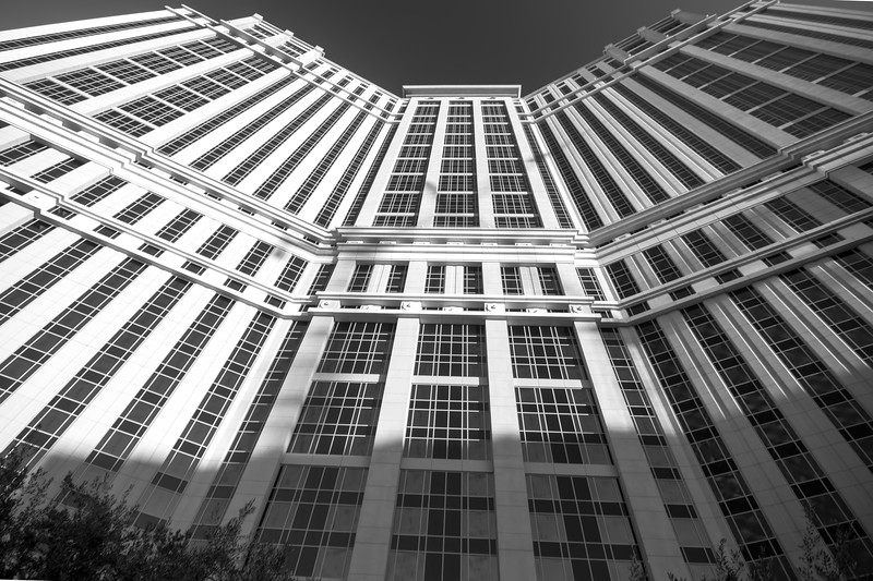 Exterior of the Palazzo Hotel, which is linked to The Venetian Hotel on Las Vegas Boulevard.