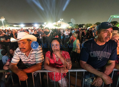 Thousands of people gathered on the grounds of San Juan Diego Catholic Church in Dallas during a concert on Sept. 1 for the parish's annual festival. (David Woo Photo)