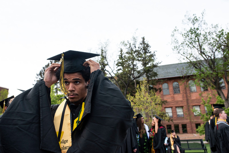 Colorado College's Class of 2019 participate in their graduation ceremony in Colorado Springs on Sunday, May 19, 2019.