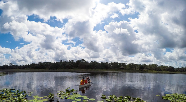 Canoes and Clouds on Lake Prevatt