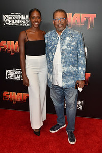 MIAMI BEACH, FL - JUNE 12: Warner Brothers Shaft Movie Premiere on Opening Day of the 23rd American Black Film Festival at the New World Center on June 12, 2019 in Miami, Florida, USA.  (Photo by Aaron J. / RedCarpetImages.net)