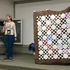 Elaine Hewitt is working with Bobbie Slide on the Chemo Quilt project.  Many of the blocks were made at the CCQG April retreat.  Nancy put the blocks together.