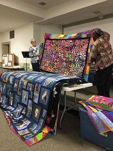2019 05 Greg Barner - one of many quilts shown during his lecture.