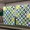 Lynn Richardson showed two quilts for the Teal Quilt Project.  Nancy Boyse did the quilting.  Pattern is from Missouri Star Quilting block books.