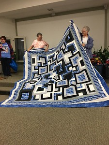 Sue Ann Cole showed us a quilt she made for her son.  He Designed on EQ7 by Nancy Thelen.  Quilted by Quilting by the River.