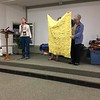 Elaine showed a second quilt.  This one was made by Bobbie Slider for the chemo project.