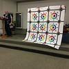 Dan Burke showed a quilt top he finished.  Pattern is Luminosity by Jacqueline DeJonge.  IT is not paper pieced.