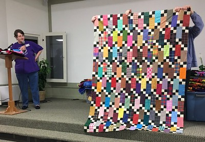 Jan Gagliano showed a top that she is donating to Bobbie Slider as one of the Chemo  quilts.