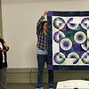 Carolyn Solomon made this Desert Sky quilt - pattern from QuiltWorx.  Quilted by Quality Quilting in Stockbridge.