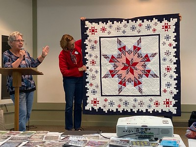 Mary Hausauer made this quilt of valor for a veteran that served with her husband.
