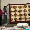 Wilma Rhodes made this quilt for her son.  He has been waiting for years for this quilt.
