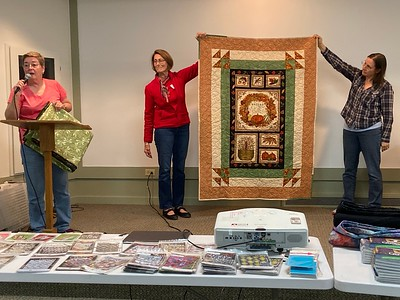 Jan Asmann made this panel quilt.  It is a mystery stash as she had no idea how it got into her stash.  she is donating it for the silent auction for the quilt show.