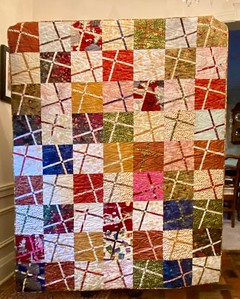 John Putnam showed us a Christmas quilt based on the pattern, Emma, By Gudrun Erla.  Our guest speaker at the October meeting.