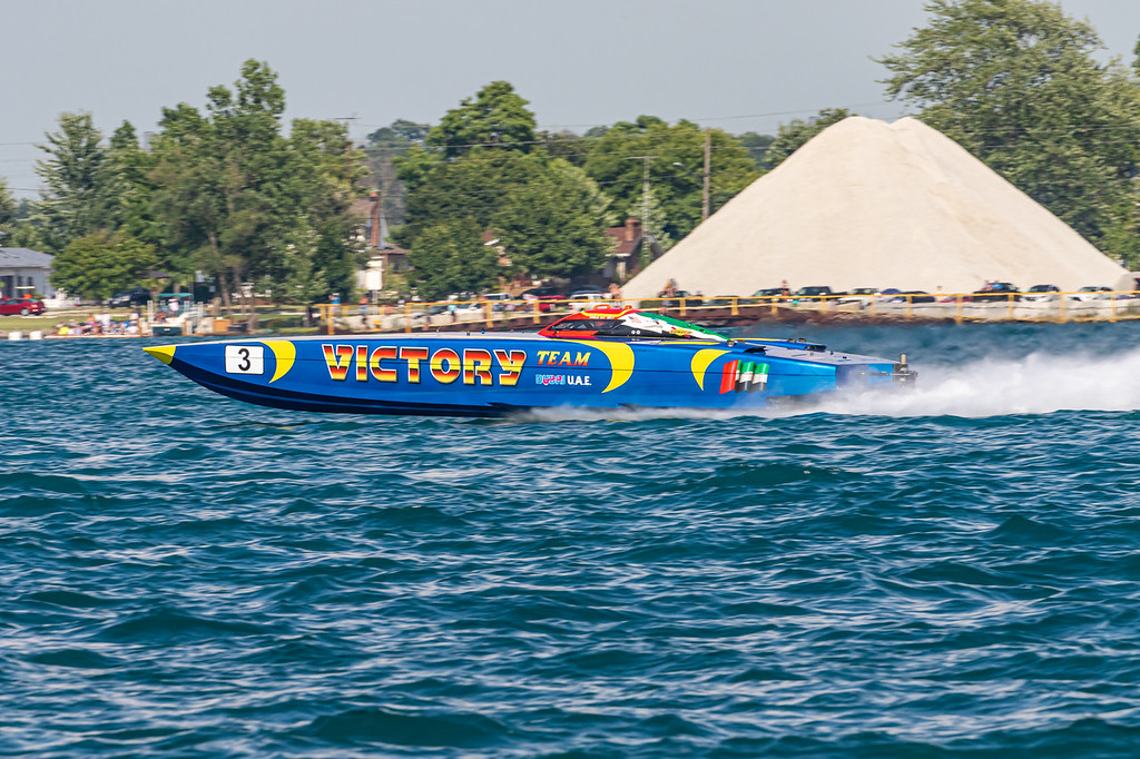 . Powerboats raced along the St. Clair River July 28 during the 2019 St. Clair River Classic. (Photos by Greg Grenier)