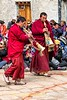 Monks Playing Tibetan Horns