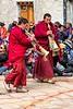 Monks Playing Tibetan Horns