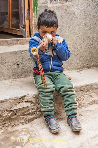 Curious Child in Lo Manthang