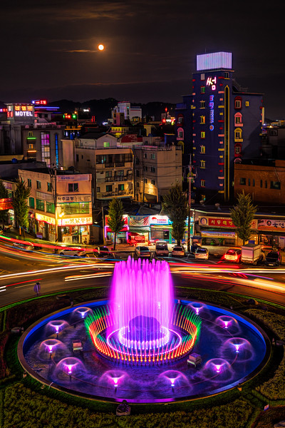 Random Fountain on a Jinju Roundabout