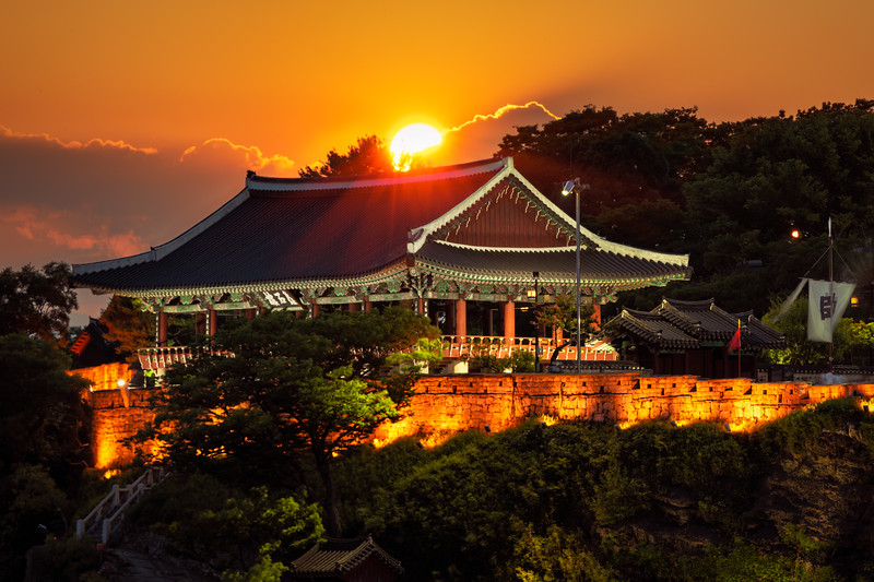 Sun Setting Over Jinju Castle