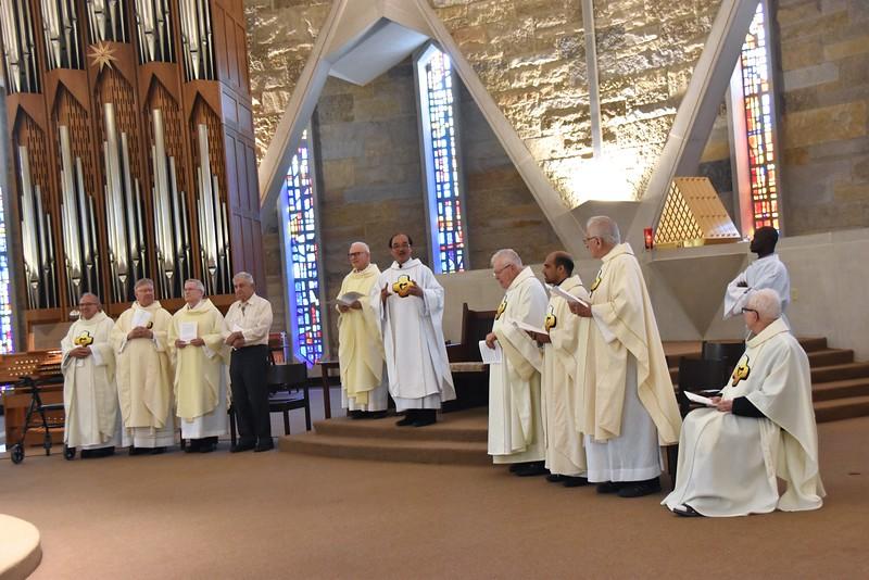 Fr. Quang introduces the jubilarians