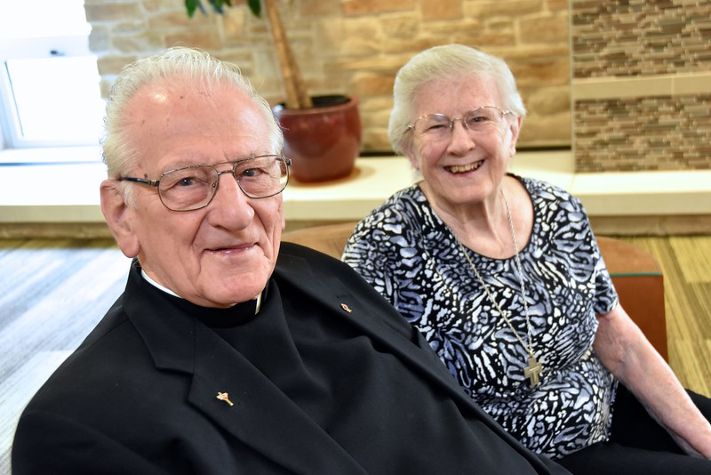 Fr. Ed and his sister