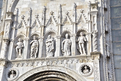 Statues Above the Cathedral Entry Door