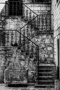 Steps:  Cropped and in Black & White