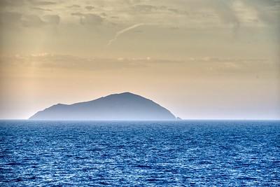 Santorini, Greece:  First Glimpse Pre-dawn