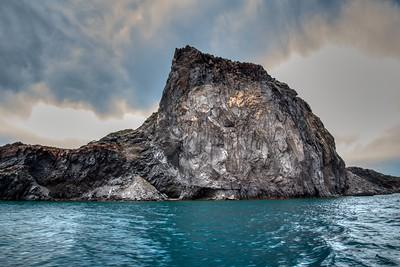 Santorini, Greece:  A Massive Rock