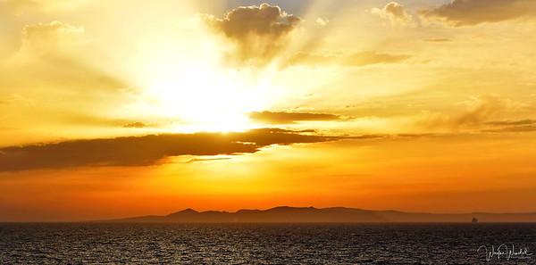 Santorini, Greece:  Sunrise