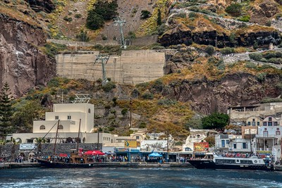Santorini, Greece:  Port of the Village chair lift