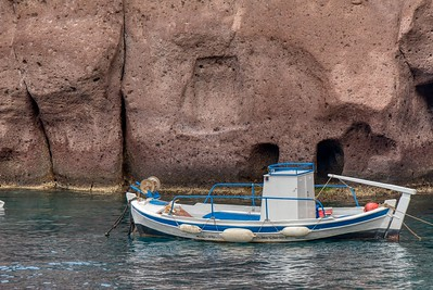 Santorini, Greece:  Greek Fishing Boat