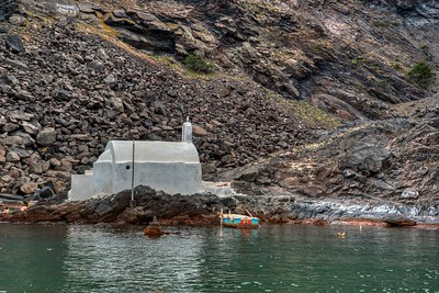 Santorini, Greece:  A Small Chapel on one of the Islands