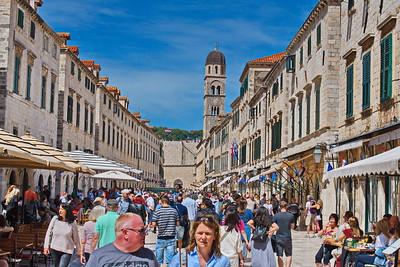 Stradun:  Main Street in Dubrovnik, Croatia