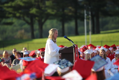 Student speaker Kayleigh Early addresses the crowd.