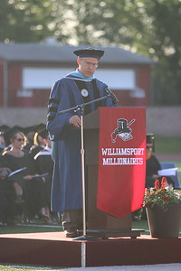 Head Principal Dr. Brandon Pardoe speaks.