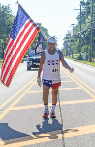 Joseph Placetne, from Toms River. The firecracker 5K in Wall, NJ on 7/4/19. [DANIELLA HEMINGHAUS | THE COAST STAR]