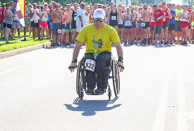 Matthew Darlow, from Tinton Falls. The firecracker 5K in Wall, NJ on 7/4/19. [DANIELLA HEMINGHAUS | THE COAST STAR]