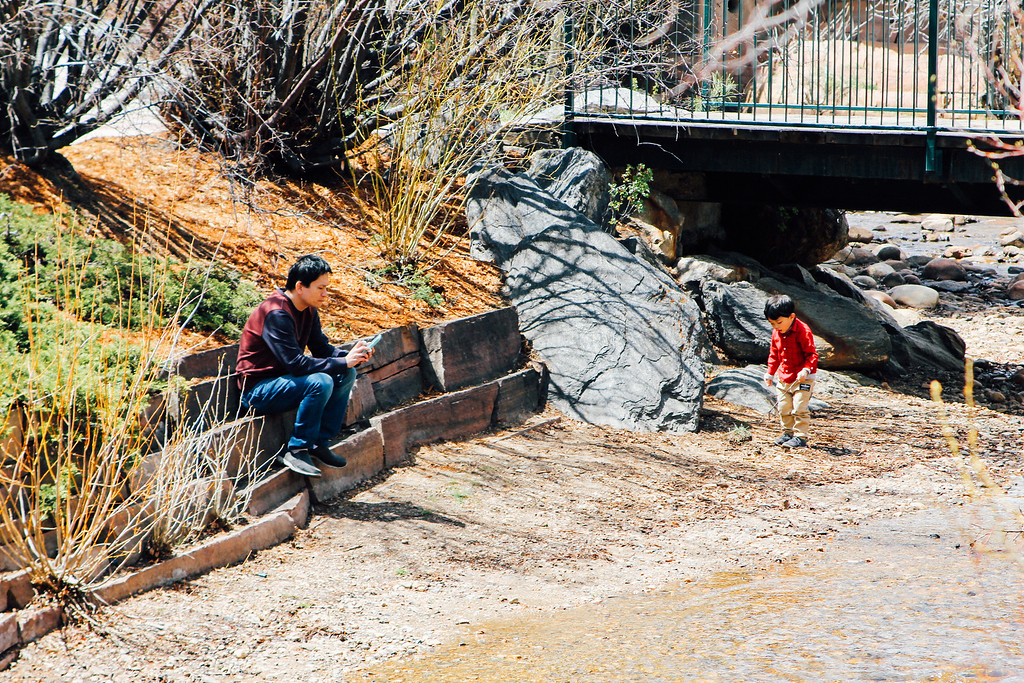 . Passing the time waiting for the ducks. (Trail-Gazette)