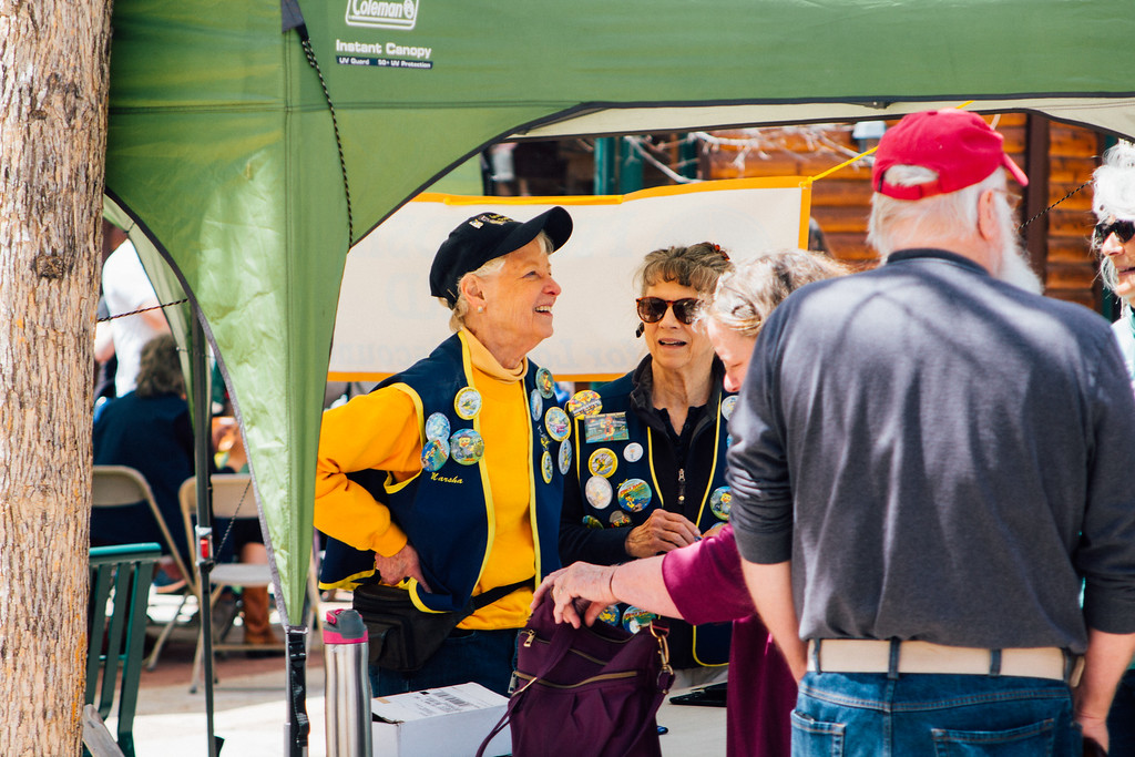 . Laughs at the Rotary booth. (Trail-Gazette)