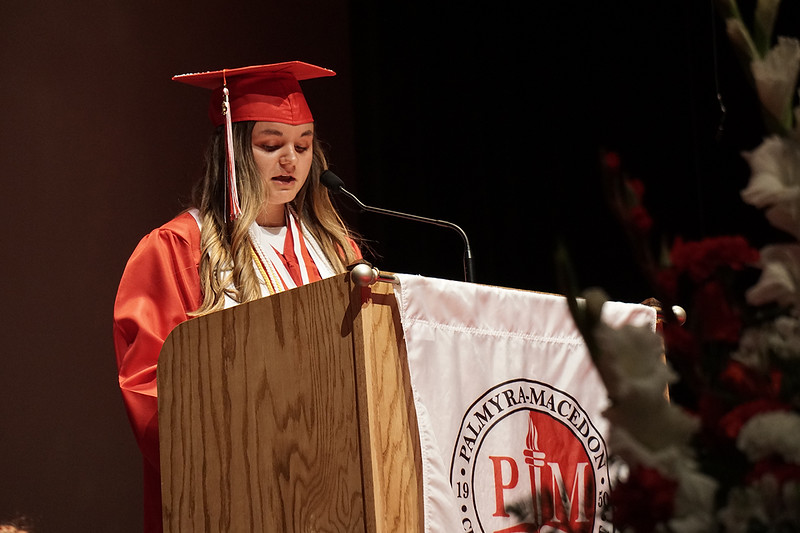 Eva T. Lyko, giving the Valedictorian speech of the Class of 2019.